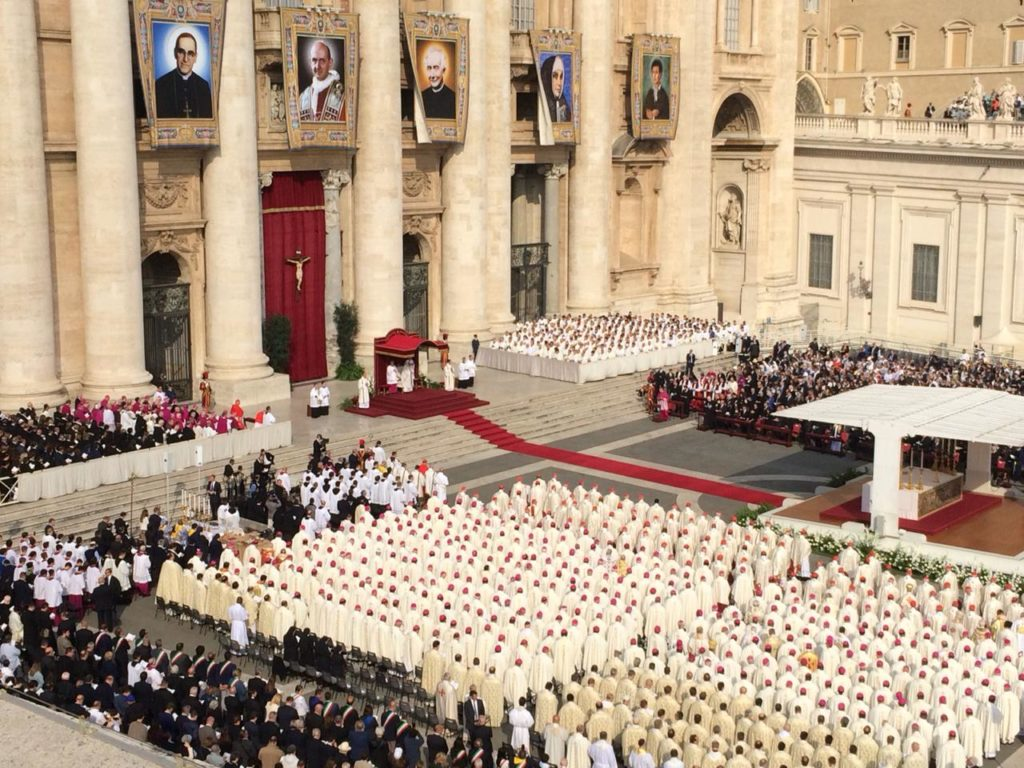 Ceremonia de canonización de San Óscar Arnulfo Romero